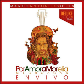 Cd+dvd Marco Antonio Solis Por Amor A Morelia Open Music