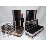 Caja De Vino Simple Con Arpiyera Rustica O Aguayo.