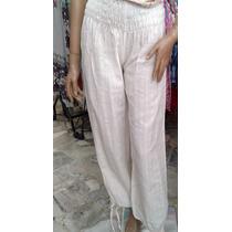 Pantalon Babucha De Playa Muy Comodo Tela Algodon Muy Fresco
