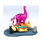 Boneco The Flintstones Fred C/ Dino Hanna Barbera Mcfarlane