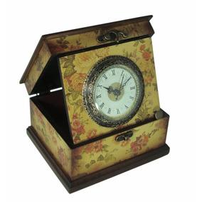 Relógio Decorativo Caixa Laca Madeira - 10017