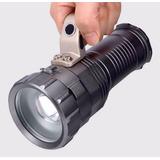Lanterna Holofote Led Recarregavel Super Potente 3 Bateria