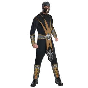 Disfraz De Adulto De Escorpion Mortal Kombat