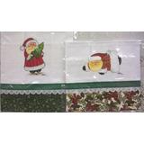 Panos De Prato Pintados A Mão - Papai Noel Verde