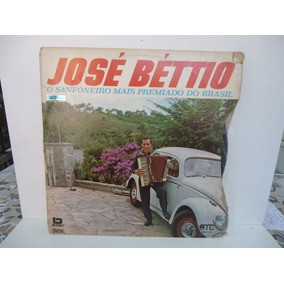 Lp José Béttio O Sanfoneiro Mais Premiado Do Brasil Selo Amc