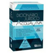 Dicionário Jurídico Aquaviva /editora Reedel