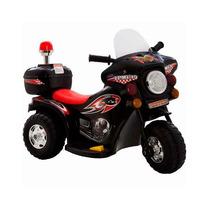 Mini Moto Eletrica Infantil Preta Policia Bw002 Motoca 6v