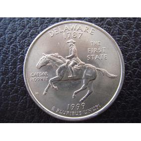 U. S. A. - Delaware, Moneda De 25 Centavos (cuarto) Año 1999