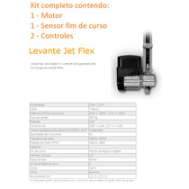 Kit Motor Portão Basculante Levante Jetflex1/4 Hp Ppa 4seg