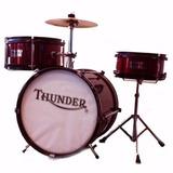 Bateria Thunder Niños 3 Cuerpos Doble Tension+plato Redo