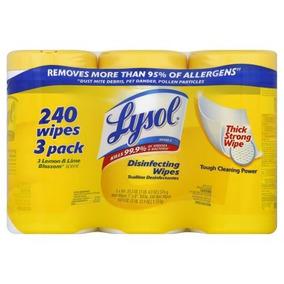 Lysol Toallitas Desinfectantes Paquete Del Valor De Limón Y