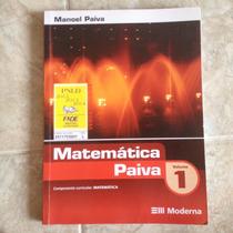 Livro Matemática Paiva Vol1 - Manoel Paiva - Editora Moderna