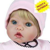 Boneca Reborn Bebe Reborn Realista Olhos Azuis Frete Grátis
