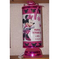 Recuerdos Centros De Mesa Lamparas Minnie Mouse Personalizad
