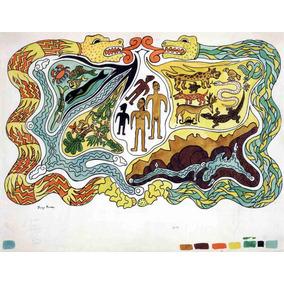 Lienzo Tela Ilustración Popol Vuh Diego Rivera 1931 90 X 100