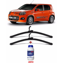 Par Palheta Flexivel Limpador Fiat Uno Way Sporting + Brinde