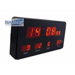 Relógio Digital Led De Mesa Com Despertador E Termômetro