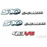 Emblemas S10 Deluxe + 4.3 V6 - 1995 À 1999 - Modelo Original