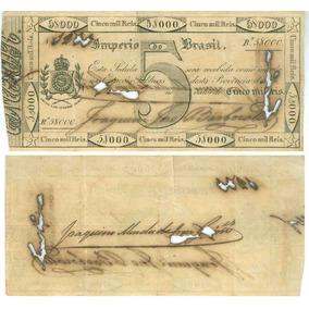 Cédula Brasileira De 5000 Réis, Troco Do Cobre, 1833 - Impér