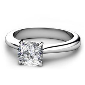 Anillo De Compromiso Con Diamante Cushion De 100 Pts. En 14k