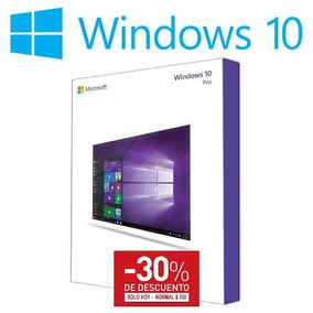Windows 10 Pro 32/64bits 100% Original Perpetuo 30%descuento