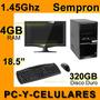Computadora Sempron 1.45ghz 4gb Ram 320gb Disco Duro Nueva