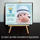 Souvenirs Bautismo 1er Añito 15 Atrilitos + Afiche De Firmas