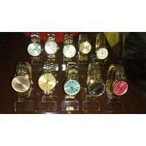 Kit C/10 Relógios Feminino Dourado Prata E Bronze Atacado