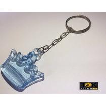 25 Chaveiros Coroa Acrilica - Lembrancinha - Azul Bebe
