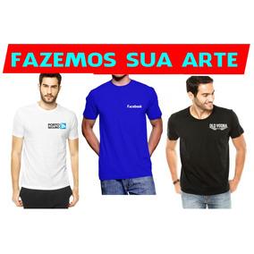Camiseta C/ Seu Logo Malha Fria 5 Pçs Empresas Uniforme