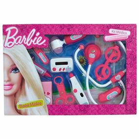 Boneca Barbie Medica - Kit Médico C/ 10 Acessorios