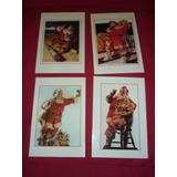 Lote 4 Postales Coca Cola Felices Fiestas 1999 Santa Claus