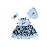 Kit Vestido Bebê Moranguinho Conjunto 3 Peças Mesversario