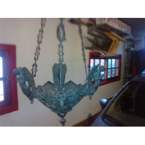 Antigua Artistica Importantisima Lampara Botiva