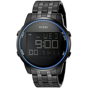 Reloj Digital Con Cronógrafo Negro Guess Hombre De