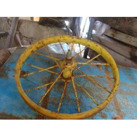 Excelente Antigua Rueda De Triciclo O Bicicleta, 29 Cm De Di
