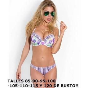 Malla Bikini 2017 Talle Grande Taza Soft Hasta 120 De Busto