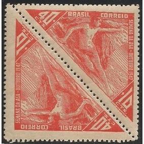 C-235-semana Da Asa-tete-beche-ano 47-selo Comemorativo Novo