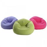 Poltrona Puff Inflável Lounge Aveludo Beanless - Intex 68569