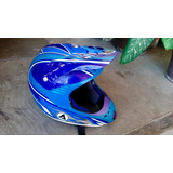 Casco Acerbis Evolution Enduro Motocross Y Lente Electric