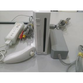 Nintendo Wii Controle Wii Remote Nunchuk Cabo Av E Fonte