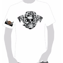 Camisa Motorcycle Harley Davidson - Pistão Skull - Fazer