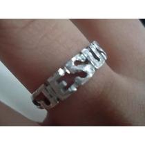 Anel Jesus Prata 950 Diamantado Frete Gratis