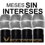 Vecctronica:fabuloso Set Karaoke De 4 Microfonos C/receptor.