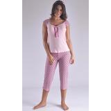 Pijama Capry En Viscosa Fresca Femenina Mujer F8883