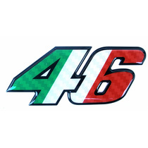 Adesivo 46 Valentino Rossi Medio Resinado Italia Alto Relev