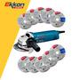 Amoladora Angular Bosch 850w Gws 8-115 + 10 Discos 115mm