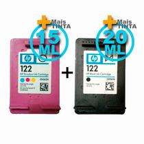 Kit Cartucho Hp122 Black 20ml + Hp122 Color 15ml Modificado