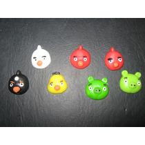 10 Apliques Angry Birds En Porcelana Fría