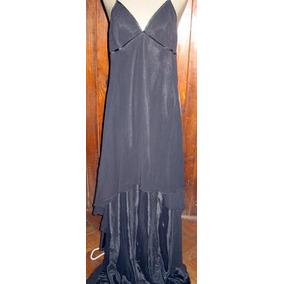 Vestido Negro Largo Claudia Larreta - Talle Small